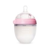可么多么(COMOTOMO)新生儿宽口径硅胶奶瓶配奶嘴150ml韩国原装进口(粉色)