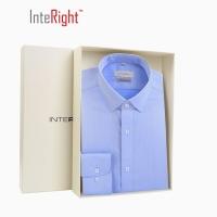 INTERIGHT DP100 成衣免烫衬衫男士长袖 蓝色 43码