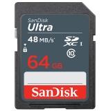 闪迪(SanDisk)64GB 读速48MB/s 至尊高速SDXC UHS-I存储卡 Class10 SD卡