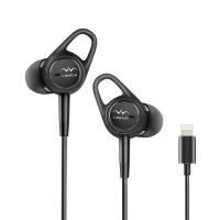 Linner(聆耳)NC21 Lightning苹果接口主动降噪耳机入耳塞式运动带麦好音质重低音iphone耳机耳麦曜石黑