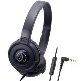铁三角(Audio-technica)ATH-S100IS HIFI重低音线控带麦便携头戴式手机耳机 黑色