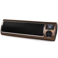 不见不散(See me here) LV520-III三代 便携式低音炮插卡音箱 老年人收音机mp3播放器 咖啡色