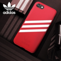 adidas(阿迪达斯) 苹果iPhone7\8手机壳 三道杠经典款条纹 潮男女运动防滑防摔保护套 红白