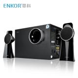 恩科(ENKOR)P333B 多媒體2.1藍牙音響低音炮 木質插卡電腦音箱 黑色