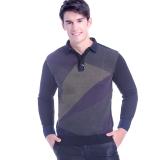 浪莎保暖内衣 男士T恤领时尚商务休闲保暖上衣加厚加绒保暖衣黑色 175/XL