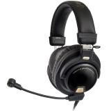 铁三角(Audio-technica)ATH-PG1 头戴式专业游戏电脑线控通话耳机耳麦 黑色