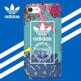 adidas(阿迪达斯) 苹果iPhone7\8手机壳 珊瑚海洋蓝时尚创意款 硅胶全包防摔软壳保护套