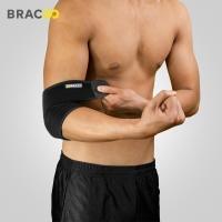美国奔酷Bracoo 护肘男运动篮球羽毛球网球专业健身卧推女手肘保暖关节扭伤 RE115 均码单只