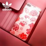 adidas(阿迪达斯) 苹果iPhone7P\8 Plus手机壳 小仙女浮雕印花款 透明硅胶防摔保护套 5.5英寸 红