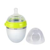 可么多么(COMOTOMO)新生儿宽口径硅胶奶瓶配奶嘴150ml韩国原装进口(绿色)