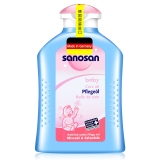 哈罗闪(sanosan)婴儿柔润护肤油200ml 宝宝儿童抚触按摩油 润肤油 德国原装进口