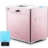 东菱(Donlim) 面包机 家用全自动撒果料蛋糕和面机 25种菜单 DL-T15W(粉色彩钢)