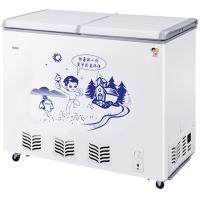 海尔(Haier) 218升冷柜 蝶形门 侧掀门 单箱变温冰柜 家用商用二合一 卧式冰箱 BC/BD-218SHT