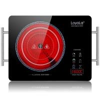 忠臣(loyola)电陶炉电磁炉家用纤薄机身升级七环火大炉盘大功率有童锁LC-EA3S