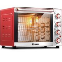 东菱(Donlim)电烤箱 33升/L 独立控温 6管加热 旋转烤叉 内置炉灯 家用烘焙 DL-K33E