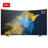 TCL D55A930C 55英寸 HDR超薄4K曲面 64位30核智能液晶电视机(黑色)