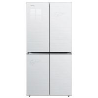 康佳(KONKA)396升 静音保鲜 冷藏定期自动除霜 十字对开多门冰箱 钢化玻璃(白色)BCD-396MN