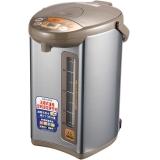 象印(ZO JIRUSHI)电热水瓶家用 四段保温电热水壶 微电脑多功能可定时 CD-WBH40C 4L电水壶 银棕色