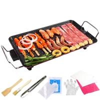 克来比(KLEBY)电烧烤炉 麦饭石家用无烟电烤炉韩式电烤盘 适合6-10人 大号 KLB9002