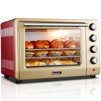 海氏(Hauswirt)HO-405 烤箱家用电烤箱 多功能大容量40L上下独立控温烤箱