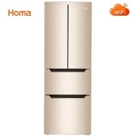 奥马(Homa) 285升 大容量多门冰箱 WIFI云智能 冷藏周期化霜 电脑控温 双冻力制冷 金色 BCD-285KI