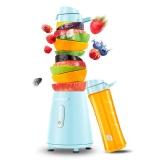 九阳(Joyoung)榨汁机便携式 双杯 料理机 迷你型L6-C3 蓝色