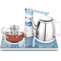 科立泰(QLT)电水壶自动上水抽水壶玻璃304不锈钢电热水壶保温电茶盘茶具 QLT-T1210NB