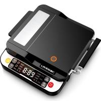 利仁(Liven)电饼铛家用经典侧开定时功能煎烤机LR-D4000