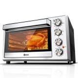 东菱(Donlim)38升/L 电烤箱 岩烤黑科技平板 双层玻璃门 搪瓷内胆 家用 烤箱 烘焙 DL-K38E