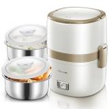 小熊(Bear)电热饭盒 加热保温饭盒蒸饭器1.5升双层304不锈钢内胆密封保鲜电饭煲DFH-A15D1