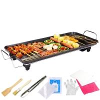 克來比(KLEBY)電燒烤爐 家用無煙電烤爐韓式電烤盤 適合6-10人 大號 KLB9002