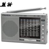 熊猫(PANDA)6122 高灵敏度十二波段 立体声插卡 老年人半导体 全波段数码MP3收音机音响