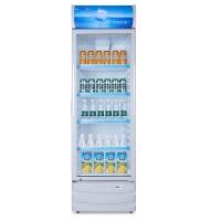 星星(XINGX) 316升 立式冷柜 防凝雾玻璃门 陈列柜 饮料柜 商用冷藏冰箱(银灰色) LSC-316C