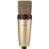 艾肯(iCON) O2 大振膜电容麦克风 网络K歌 主持 录音专用 内置高通滤波器和10dB衰减旋钮