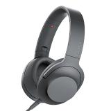 索尼(SONY)MDR-H600A 头戴式音乐耳机 流行女声利器 Hi-Res手机耳机 通用 灰黑