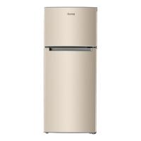 奥马(Homa) 118升 家用两门小冰箱 大冷藏小冷冻 实用省电 宿舍 办公 金色 BCD-118A5