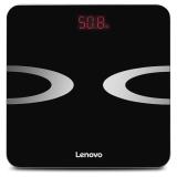 联想(lenovo)电子秤 体重秤 智能体脂秤 HS01 微信APP兼容 全包底机身(优雅黑)