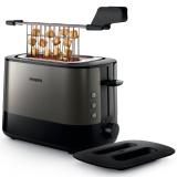 飞利浦(PHILIPS)多士炉吐司机全自动家用烤面包机加宽烘烤槽内置烘烤架 HD2635/21