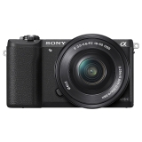 索尼(SONY)ILCE-5100L APS-C单镜头微单相机(相机包/存储卡套装) 黑色(约2430万有效像素 16-50mm镜头 a5100L/α5100)
