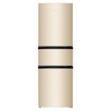 奧馬(Homa) 203升 三門三溫電冰箱 自動低溫補償  中門軟冷凍 節能靜音 金色 BCD-203DBK