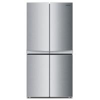 康佳(KONKA)330升 十字对开门冰箱 实用四门 冷藏室隔离(银色)BCD-330L4GY