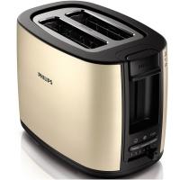 飞利浦(PHILIPS)多士炉吐司机全自动家用烤面包机加宽置中烤槽HD2628/59 香槟金