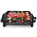克来比(KLEBY)电烧烤炉 家用无烟电烤炉韩式电烤盘 双烤网 升级款带烤盘 KLB9055
