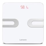 联想(lenovo)电子秤 体重秤 智能体脂秤 HS02 MINI款 微信APP兼容 全包底机身(炫酷白)