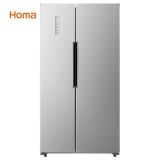奥马(Homa) 452升 风冷无霜对开门冰箱 595mm超薄机身 电脑控温 静音节能  银色 BCD-452WK