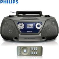 飞利浦(PHILIPS)AZ1852/93 音响 CD播放机 磁带机 收录机 便携胎教机 学习机 教学机 USB播放器 转录机