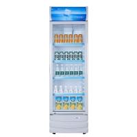 星星(XINGX) 236升 立式冷柜 防凝雾玻璃门 陈列柜 饮料柜 商用冷藏冰箱(银灰色) LSC-236C