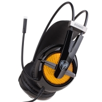 硕美科(SOMIC) G938 头戴式电脑耳麦 7.1声效游戏耳机  带线控  佩戴舒适 黑色