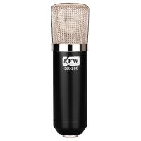 凯浮蛙(KFW) SK-200 电脑录音电容麦克风话筒 电脑录音翻唱网络K歌YY UC 聊天 黑色