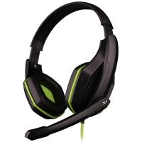 欧凡(OVANN) X1 头戴式专业游戏电脑耳机耳麦 语音带麦克风话筒   黑绿色